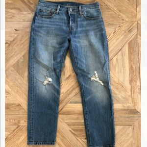 Levi's 501 Straight Leg Denim Jeans